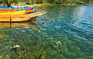 泸沽湖娱乐-猪槽船游湖(里格码头)