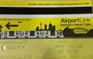 【悉尼图片】悉尼机场到市区超省钱窍门,单程只要3澳刀。