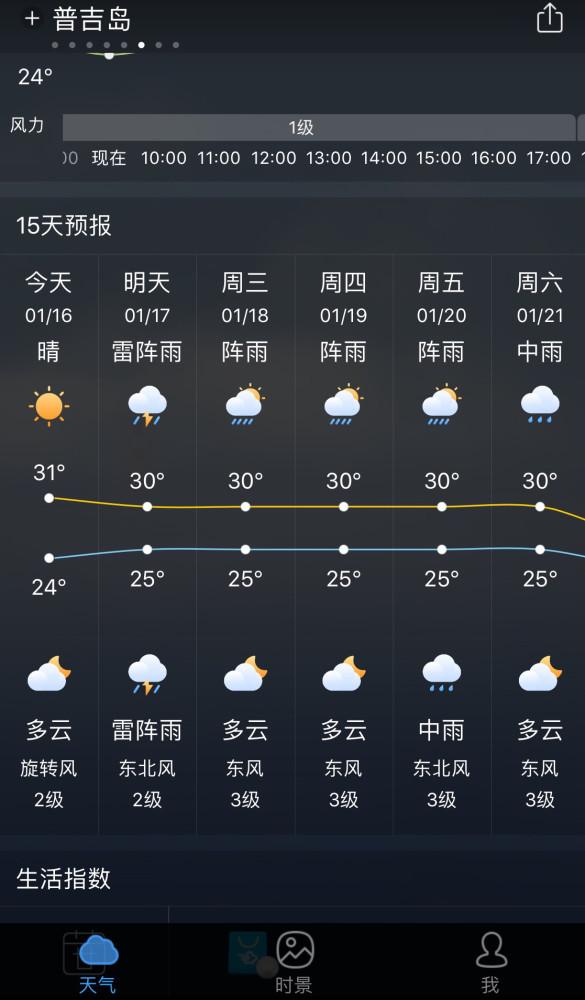 还可以了解未来15天的天气预报