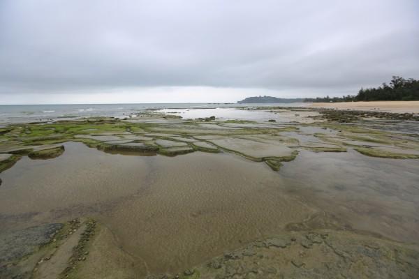 沙滩水滴动态壁纸