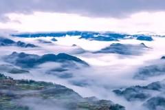 """婺源江岭再现""""4D云海"""",踏在脚下如临仙境。壮观!"""