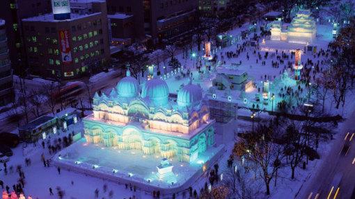北海道小樽+新雪谷+登别冰雪6日游(新雪谷滑雪场1日滑雪+札幌冰雪节图片