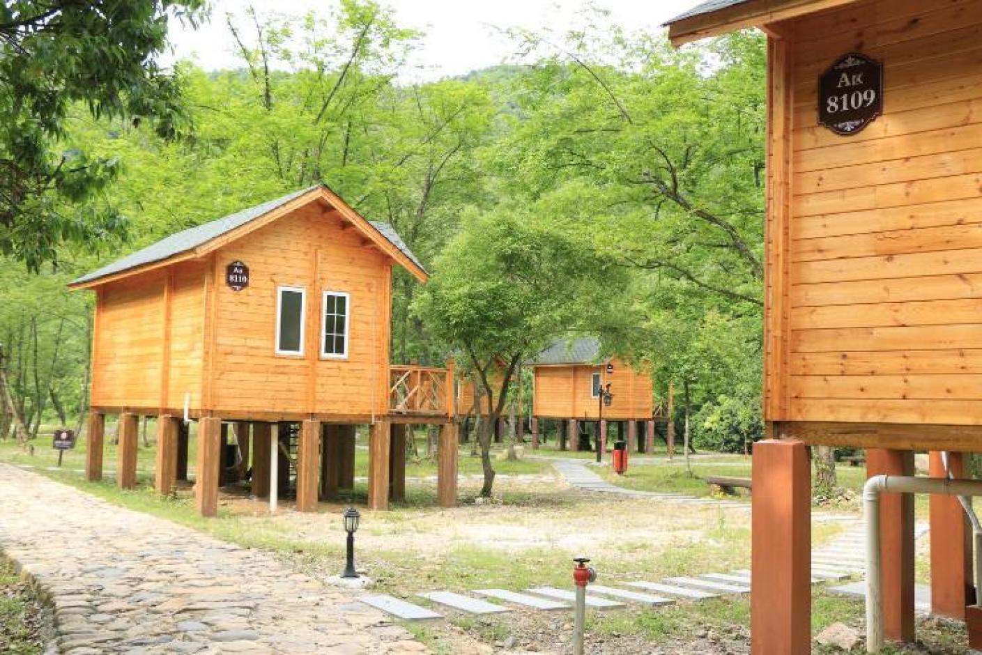 泾县绿林谷泳池度假村别墅私人木屋酒店图片