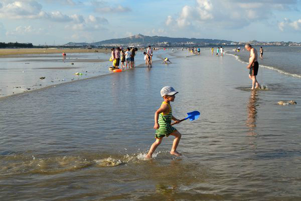 幼儿园风景简笔画海边