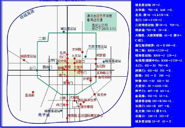旅游攻略:西安火车站公交导视图