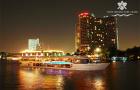 曼谷 豪华白兰花号游轮夜游湄南河 全船统一价 优先安排甲板·中文客服·快速出票·