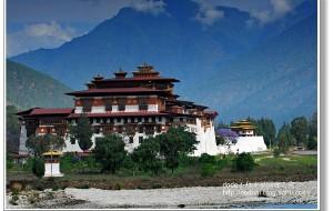 【不丹图片】不丹王国最美的普纳卡宗(Punakha Dzong)--不丹、尼泊尔之旅(11)