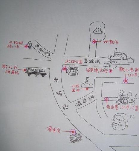 台湾简易手绘地图