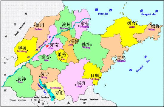 山东省平阴县县城地图