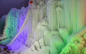 【石家庄图片】洁白与色彩交织—沕沕水冰瀑