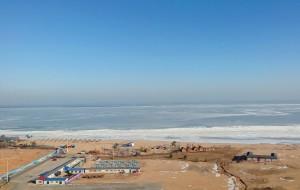 【东戴河图片】冰海落日与东升