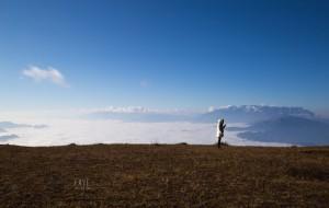 【昭通图片】美丽的大山包眺望日落云海,安静的跳蹬河观望害羞的黑颈鹤
