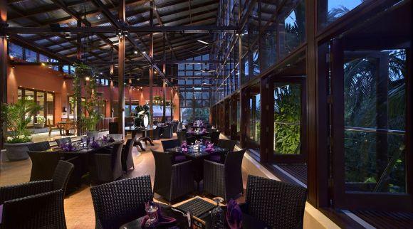 巴厘岛硬石酒店 (Hard Rock Hotel Bali) 位于库塔著名的冲浪海滩上,是一个拥有四十年历史的摇滚音乐文化度假村。它纪念从上个世纪50 年代到90年代末的摇滚表演艺术家们,也反应每个阶段音乐和时尚和艺术的面貌。酒店墙上以各种图片,纪念品和肖像来装饰,从 ROCKING'TOTS 到GRUNGE GRAND DADS,酒店的摇滚音乐会让你随之狂欢。 酒店巨大的电视墙上播放着最新的音乐录像带,酒店大厅中央挑高的舞台CENTERSTAGE每晚都有小型现场演唱会。硬石酒店的自助餐厅,采