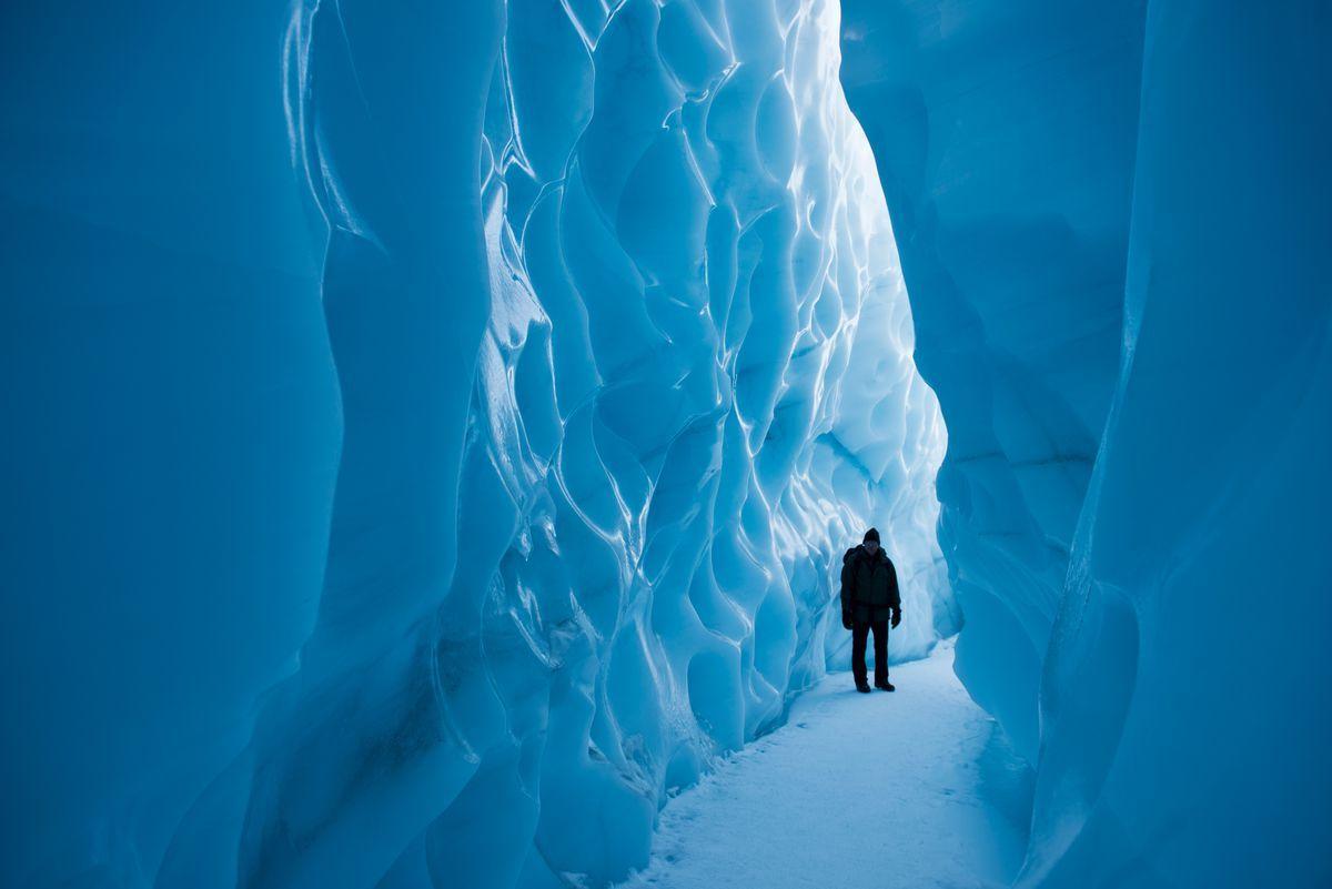 阿拉斯加冰川徒步,亲自踏足这片外太空的幽蓝空间_图6