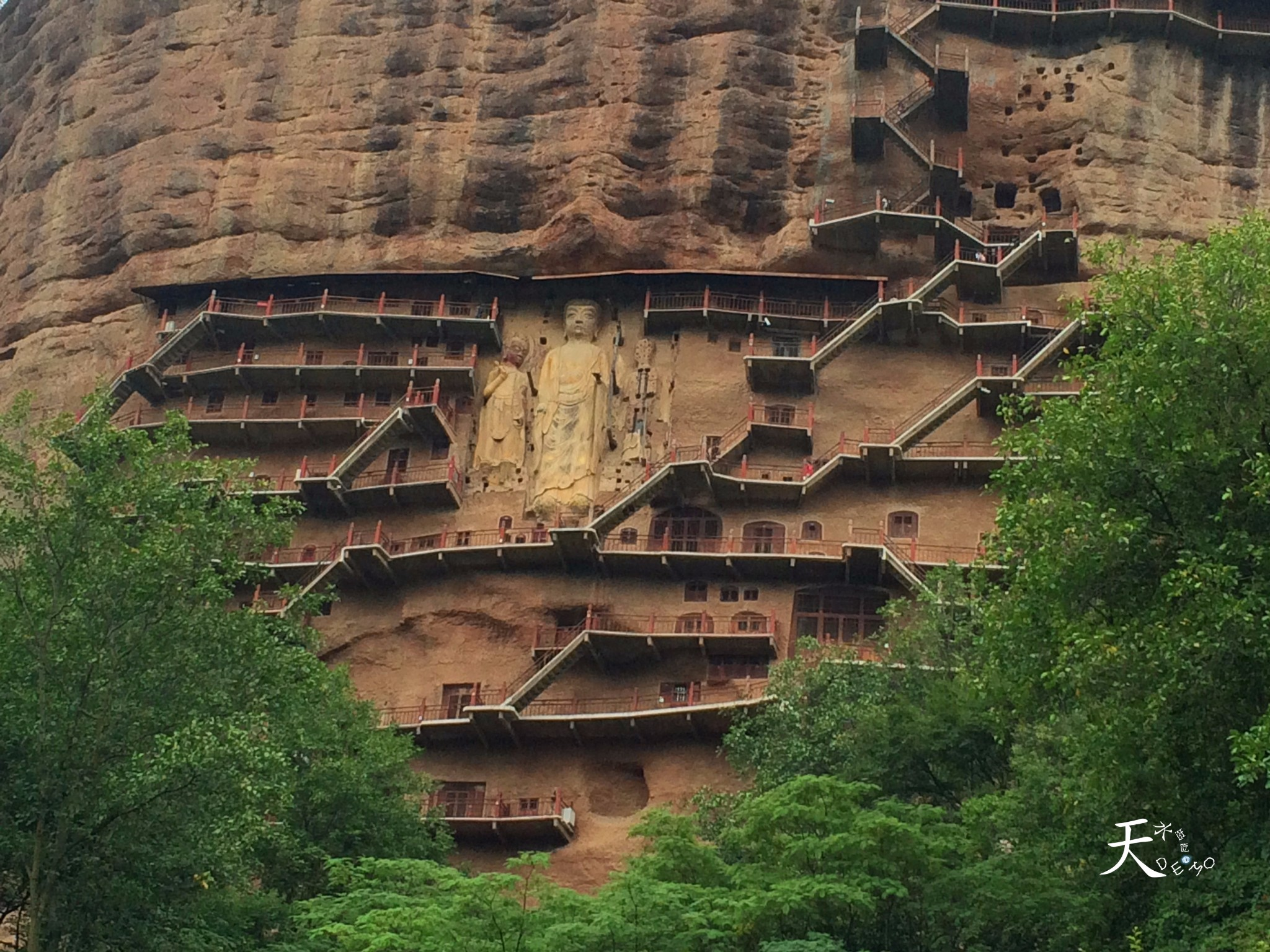 China GanSu Maijishan Grottoes