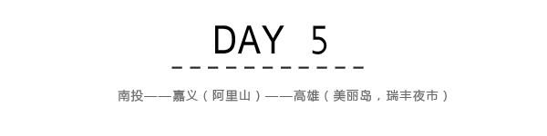 Day5:南投~嘉义(阿里山)~高雄(美丽岛,瑞丰夜市)